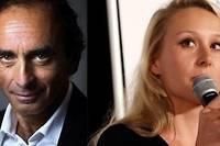 <p>Éric Zemmour et Marion Maréchal ont pensé à s'unir pour les élections européennes.</p>