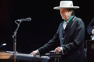 Bob Dylan en concert, ici en 2018.