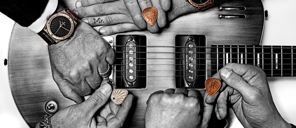 <p>Esprit rock pour Hublot et Laurent Picciotto...</p>