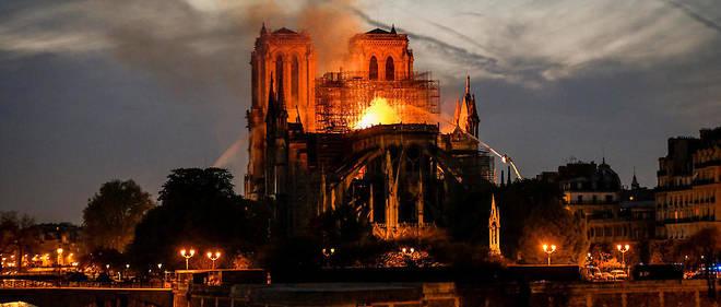 L'incendie à Notre-Dame de Paris le 15 avril 2019.