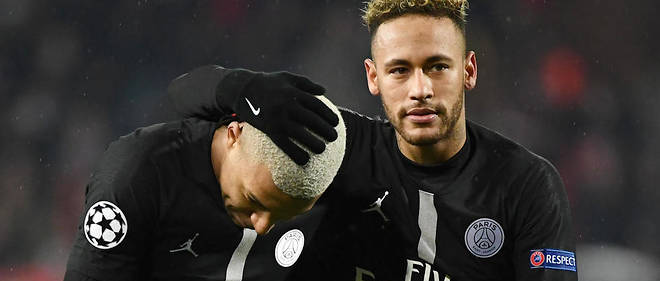 Kylian Mbappé et Neymar, en décembre dernier. Les deux stars du PSG font partie des premières personnalités sportives à avoir exprimé leur tristesse, hier soir, suite à l'incendie de la cathédrale Notre-Dame de Paris.