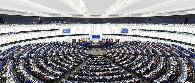 L'hemicycle du Parlement europeen.