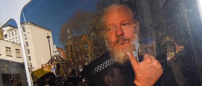 Julian Assange lors de son arrestation le 11 avril 2019.