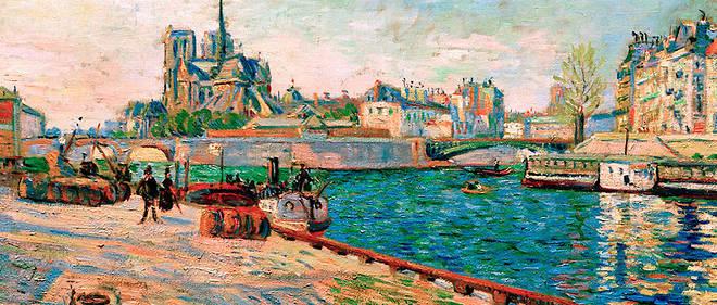 «Notre-Dame, l'île Saint-Louis, vues du quai de la Tournelle, soleil», de Paul Signac (1884).