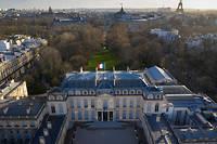 Vue aérienne du palais de l'Élysée.