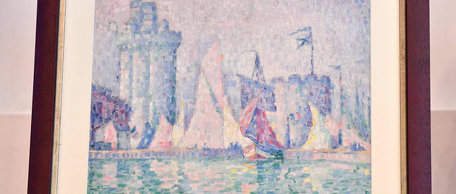 Cette huile sur toile datant de 1915 qui représente des bateaux à  l'entrée du port de la Rochelle avait été dérobée au musée des  Beaux-Arts de Nancy.