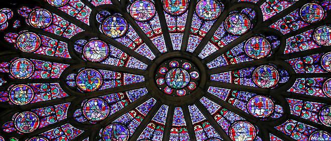 La rosace nord de Notre-Dame édifiée en 1250.