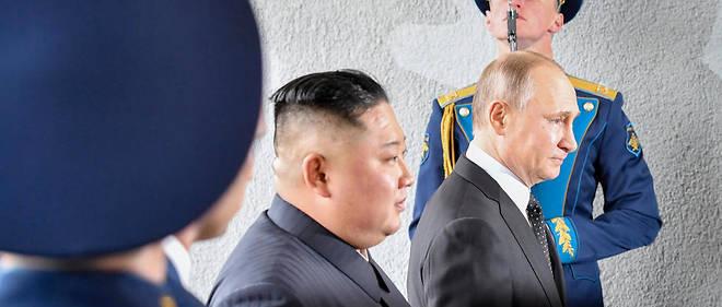 Vladimir Poutine et Kim Jong Un à Vladivostok.