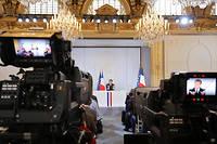 Emmanuel Macron face aux journalistes le 25 avril 2019.