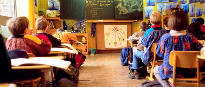 Une école Steiner en banlieue parisienne. La pédagogie alternative de l'école hors contrat séduit de nombreux parents, qui ignorent tout de la pensée très ésotérique du fondateur, Rudolph Steiner.