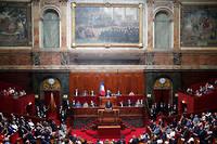Emmanuel Macron s'adresse au Parlement réuni en Congrès à Versailles le 9 juillet 2018.