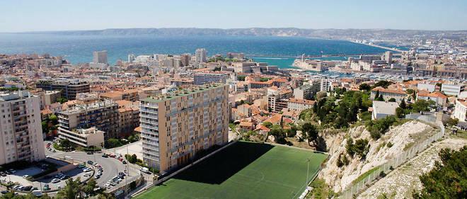 Vue aérienne de Marseille.