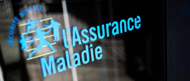 Photo prise le 23 octobre 2012 à Paris du logo de l'Assurance maladie devant un bâtiment de la Caisse primaire d'Assurance maladie (CPAM).