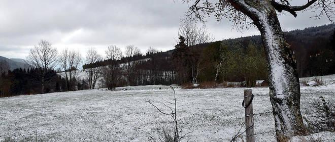 Certains endroits du territoire, comme ici dans le Haut Forez, ont même été recouverts de neige.