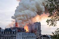 La flèche de Notre-Dame s'est effondrée le 15 avril 2019.