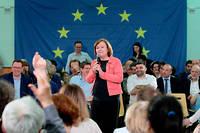 Déplacement de Nathalie Loiseau et de Pascal Canfin pour la campagne de la liste LREM Renaissance dans le cadre des élections européennes.