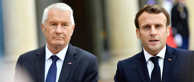 Le président français Emmanuel Macron lors d'une déclaration avec le secrétaire général du Conseil de l'Europe, Thorbjorn Jagland, le 6 mai dernier.