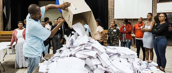 Le décompte des voix confirme que l'ANC est toujours favorite de ces scrutins de mai 2019.