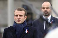 Emmanuel Macron lors des cérémonies du 11 Novembre