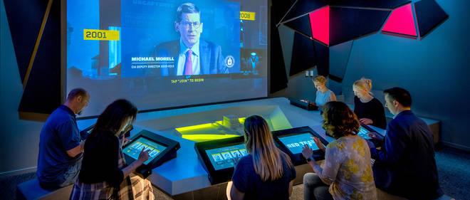 """La """"situation room"""", où l'on doit prendre des décisions à la lumière d'informations collectées sur le terrain."""