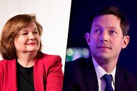 Nathalie Loiseau et François-Xavier Bellamy, respectivement têtes de liste de LREM et LR aux élections européennes.
