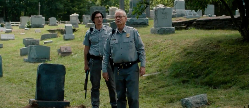 <p>Adam Driver et Bill Murray dans << The Dead Don't Die >> de Jim Jarmusch.</p>