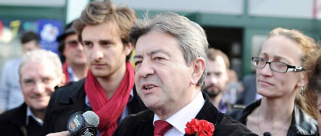Jean-Luc Mélenchon était venu soutenir Andréa Kotarac (derrière lui), tête de liste Front de gauche en 2014 à Lyon.