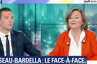 Jordan Bardella et Nathalie Loiseau sur BFM TV.