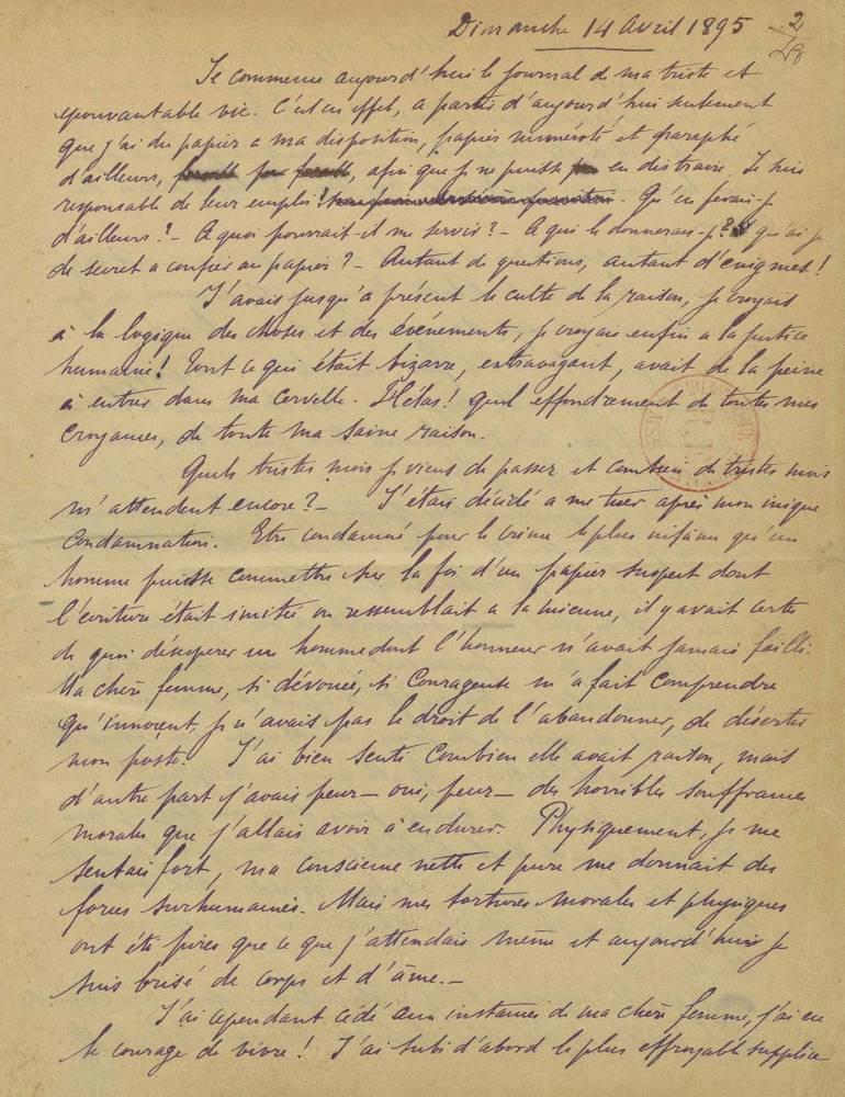 Alfred Dreyfus ©  Dpt des manuscrits, BnF