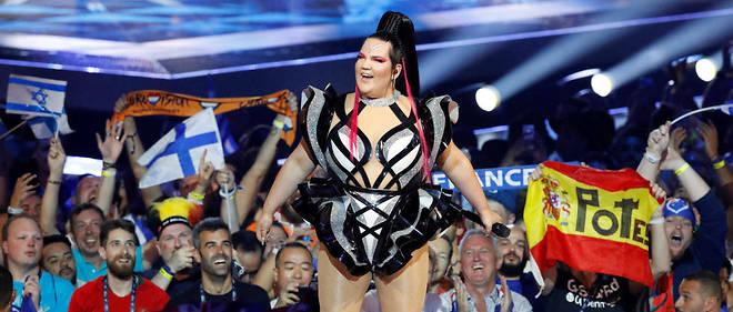 En accueillant l'Eurovision en 2019, Israël bénéficie d'une arme importante de soft power. Ici la gagnante de l'an dernier Netta lors de l'ouverture de la première demi-finale à Tel-Aviv.