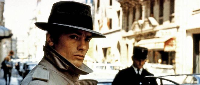 """Alain Delon dans """"Le Samourai"""", le film de Jean-Pierre Melville."""