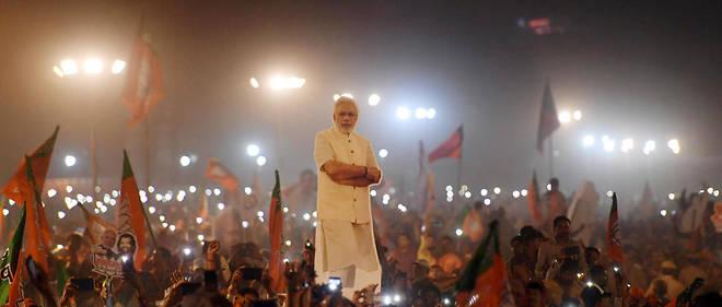 À Delhi, lors d'un meeting du Premier ministre Narendra Modi, le 8 mai.