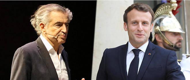 Bernard-Henri Lévy et Emmanuel Macron, complices sur la question européenne.