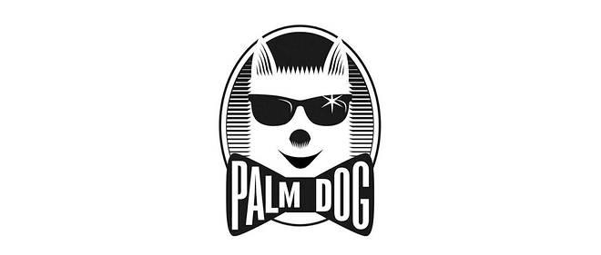 Le logo de la Palm Dog représente Mutley, le fox-terrier du créateur du trophée, Toby Rose.