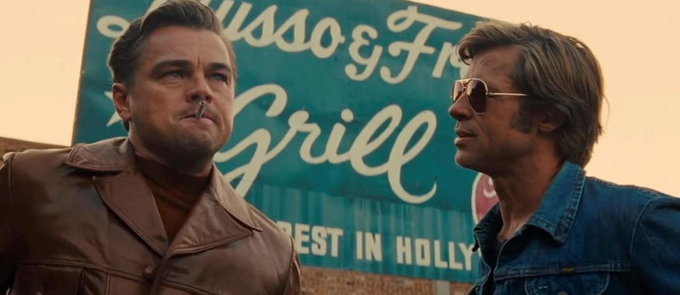 <p>Leonardo DiCaprio et Brad Pitt dans « Once Upon a Time in Hollywood », le nouveau film de Quentin Tarantino.</p>