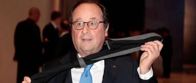 François Hollande arrive au dîner du Crif, le 20 février 2019, à Paris.