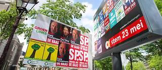 Des affiches électorales pour les européennes aux Pays-Bas en mai 2019.