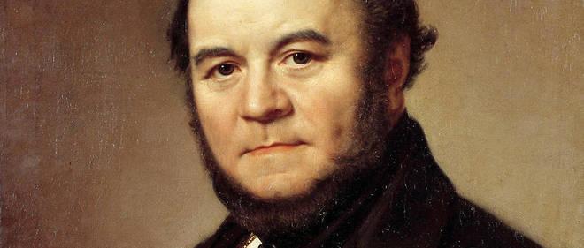 Portrait de Henri Beyle dit Stendhal (1783-1842). Peinture de Johan Olaf Sodermark  (1790-1848), École suédoise, 1840. Huile sur toile. Dim : 0,62 x 0,50 m. Versailles, muséee du Château.