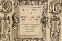 Page de garde de la 5e édition des  Essais  par Abel L'Angelier, 1588 (exemplaire Solvay).