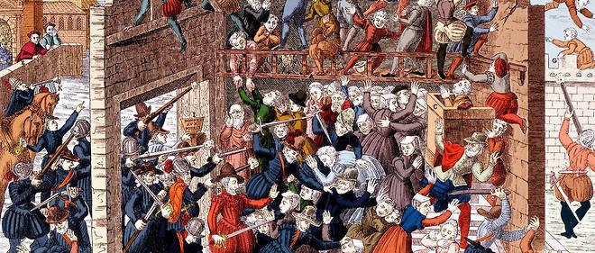 Massacre de Wassy (Vassy) le 1er mars 1562 sous Francois Ier de Lorraine, 2e duc de Guise (1519-1563).