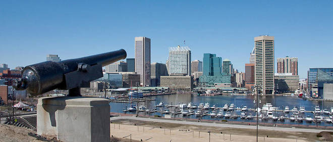 "La ""skyline"" de Baltimore."