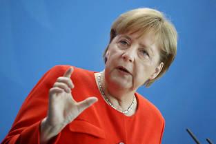 <p>Angela Merkel à Berlin.</p>