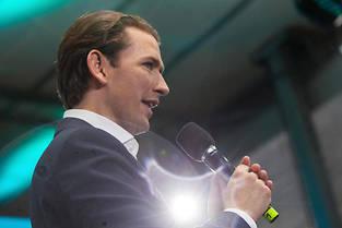 <p>Le chancelier Sebastian Kurz est lâché par le parti d'extrême-droite FPÖ.</p>