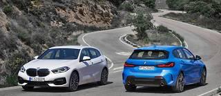 BMW Série 1 2019, version standard à gauche et M135 à droite