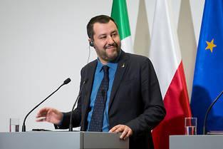 <p>Matteo Salvini, chef du Mouvement 5 étoiles, sort gagnant des élections européennes en Italie.</p>