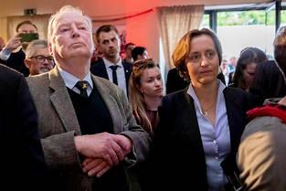 <p>Alexander Gauland, dirigeant de l'AfD, et Beatrix von Storch, vice-présidente, lors de la soirée du parti.</p>