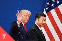 Donald Trump et son homologue chinois Xi Jinping.