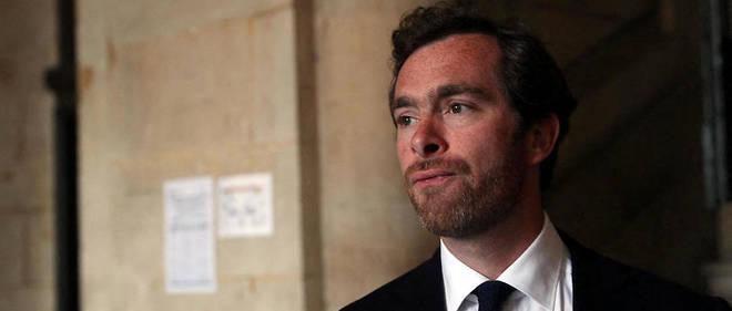 Pierre-Louis Baudey-Vignaud, le fils de Sophie Toscan du Plantier, à l'ouverture du procès le 27 mai 2019.