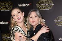 Billie Lourd et sa mère Carrie Fisher en décembre 2015.