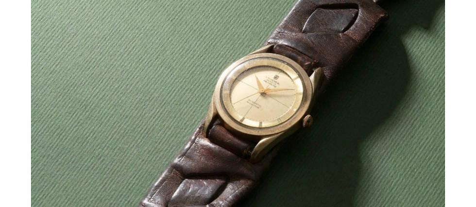 <p>Une des montres du maître du kung-fu adjugée à Hong Kong.</p>